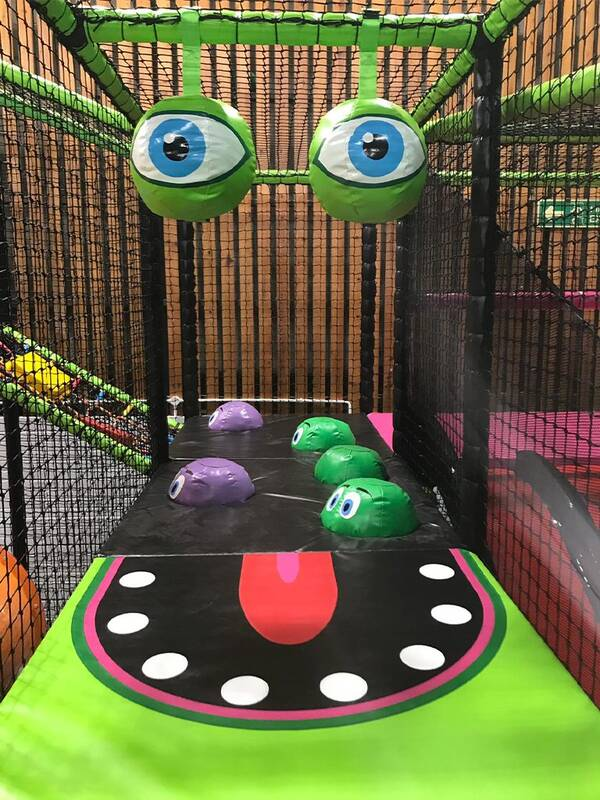 Monster themed soft play area